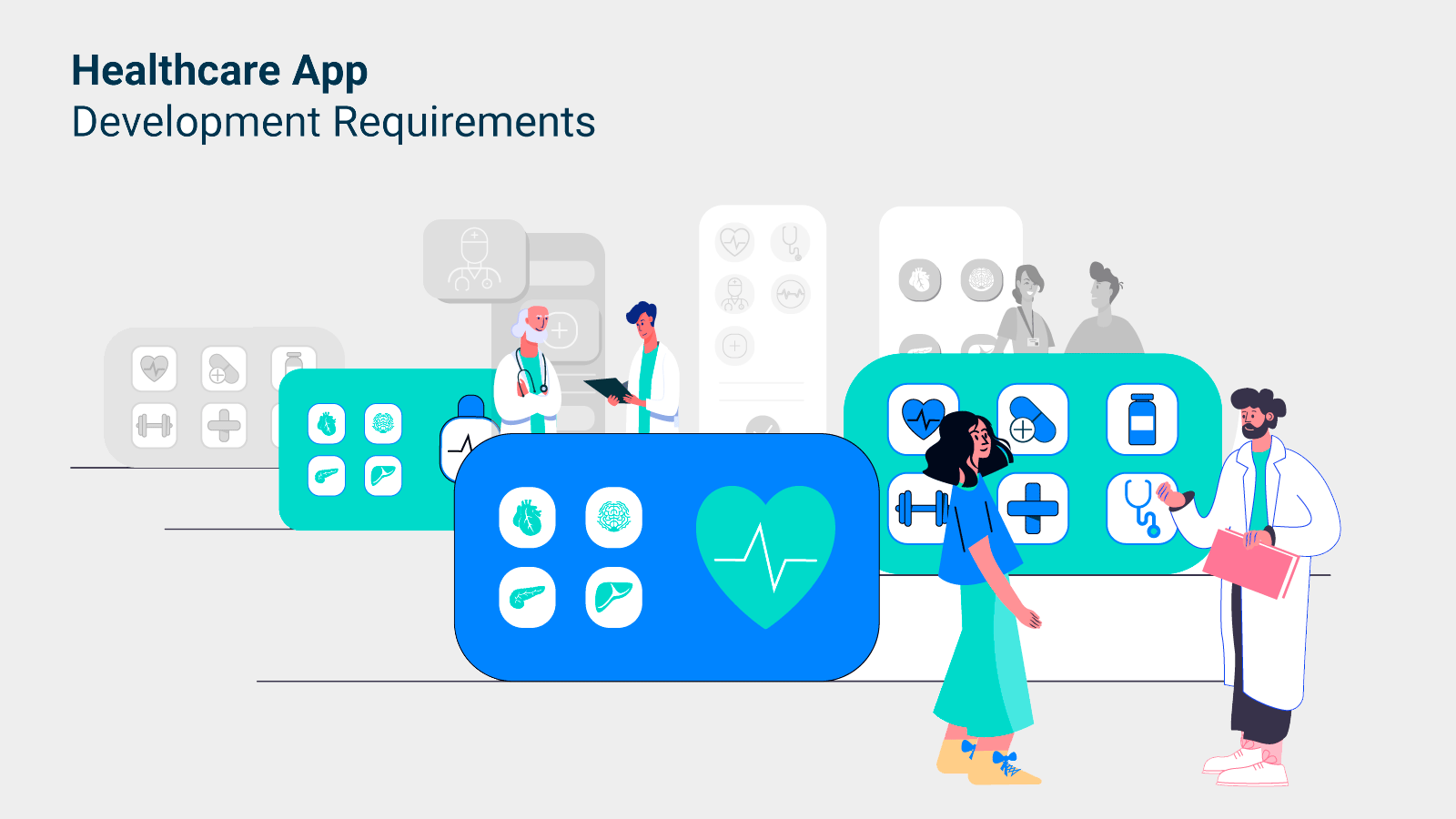 Functionality and standards used in healthcare mobile app development